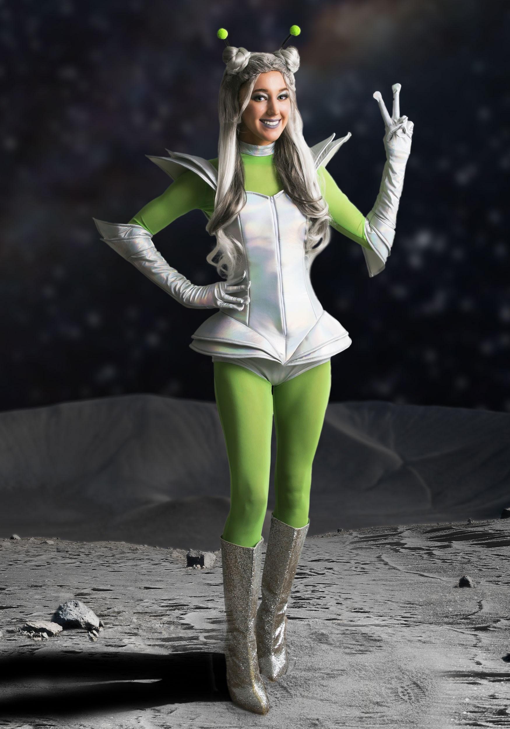 Galactic Alien Babe Costume for Women