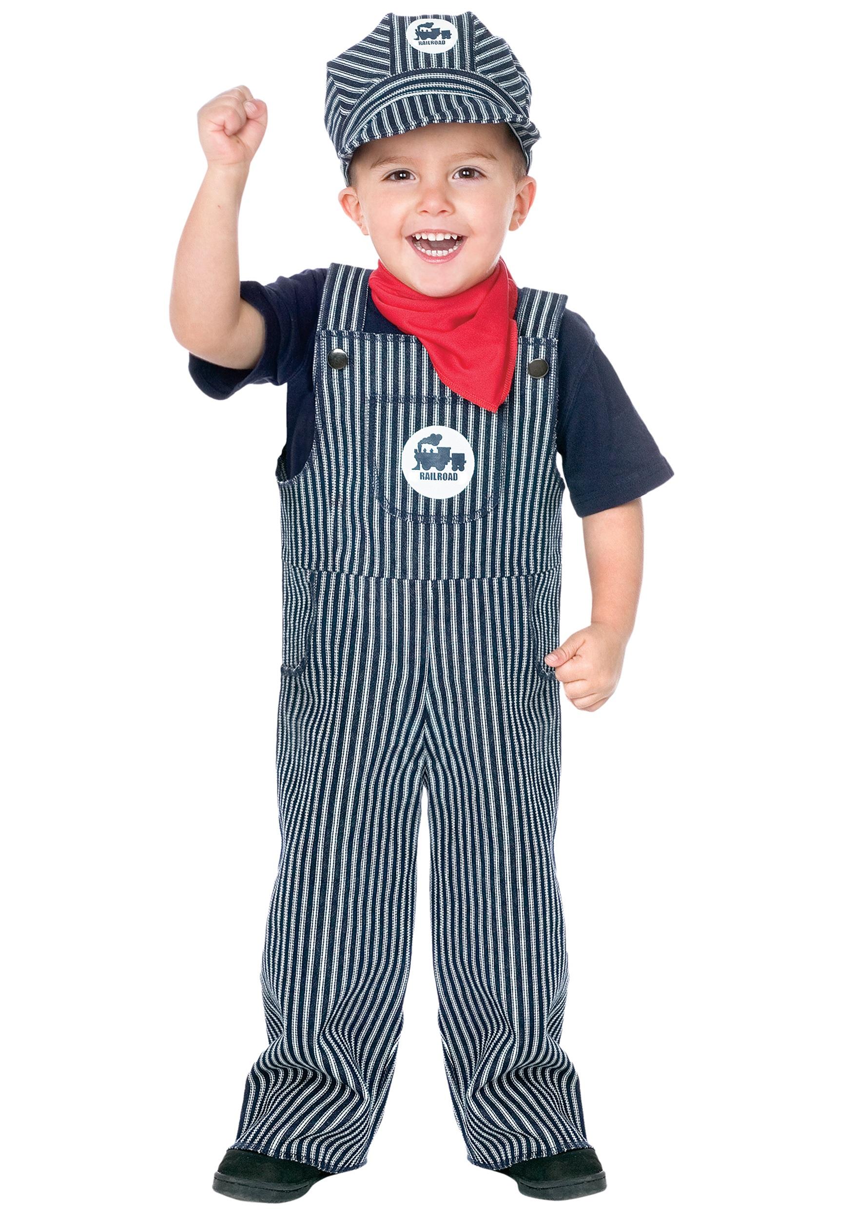 Train engineer toddler costume 2t
