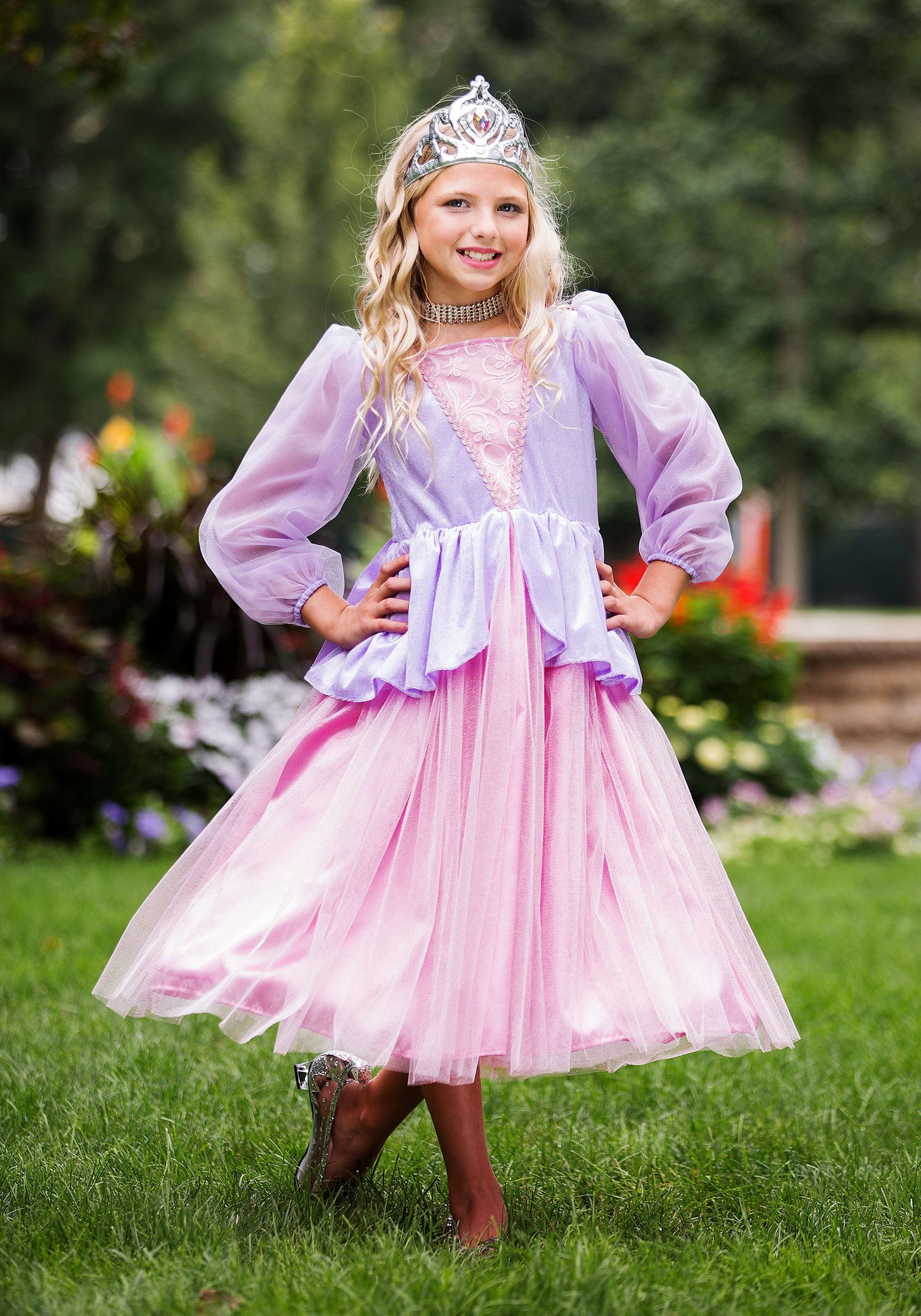 girlu0027s pink and lavender princess costume