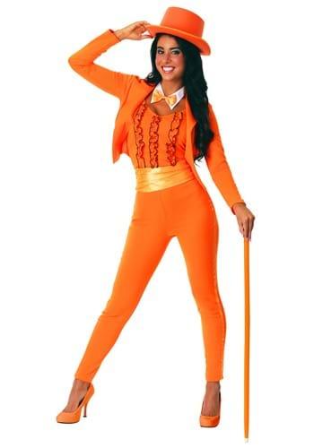 Womens Orange Tuxedo Costume