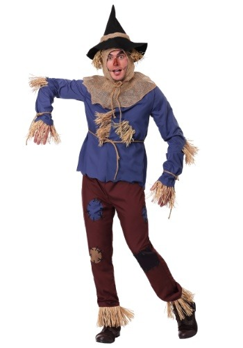 Click Here to buy Adult Patchwork Scarecrow Plus Size Costume 2X 3X from HalloweenCostumes, CDN Funds