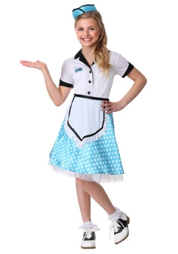 Click Here to buy Kids 1950s Diner Darling Costume from HalloweenCostumes, CDN Funds
