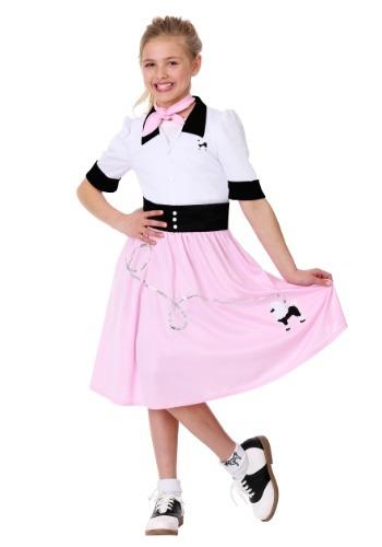 Girls Sock Hop Sweetheart Costume
