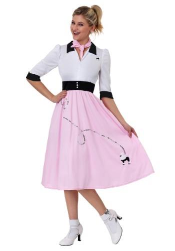 Womens Sock Hop Sweetheart Costume