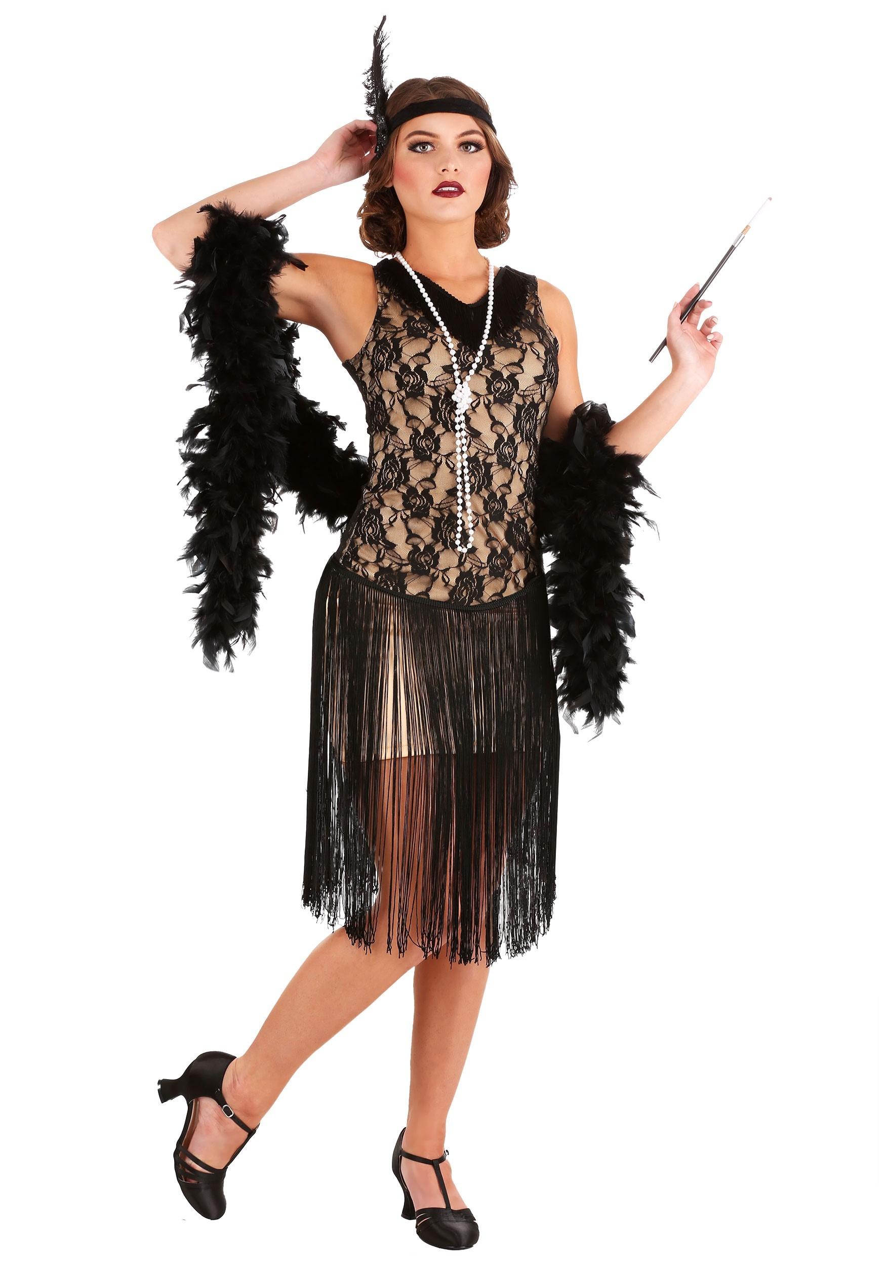 speakeasy flapper plus size costume for women 1x 2x