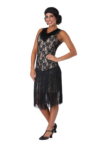 Speakeasy Flapper Plus Size Costume for Women