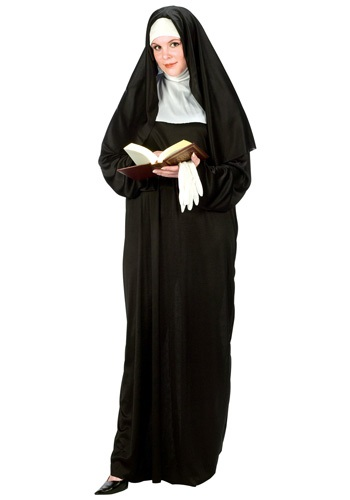 Click Here to buy Plus Size Nun Costume from HalloweenCostumes, USA Funds & Shipping