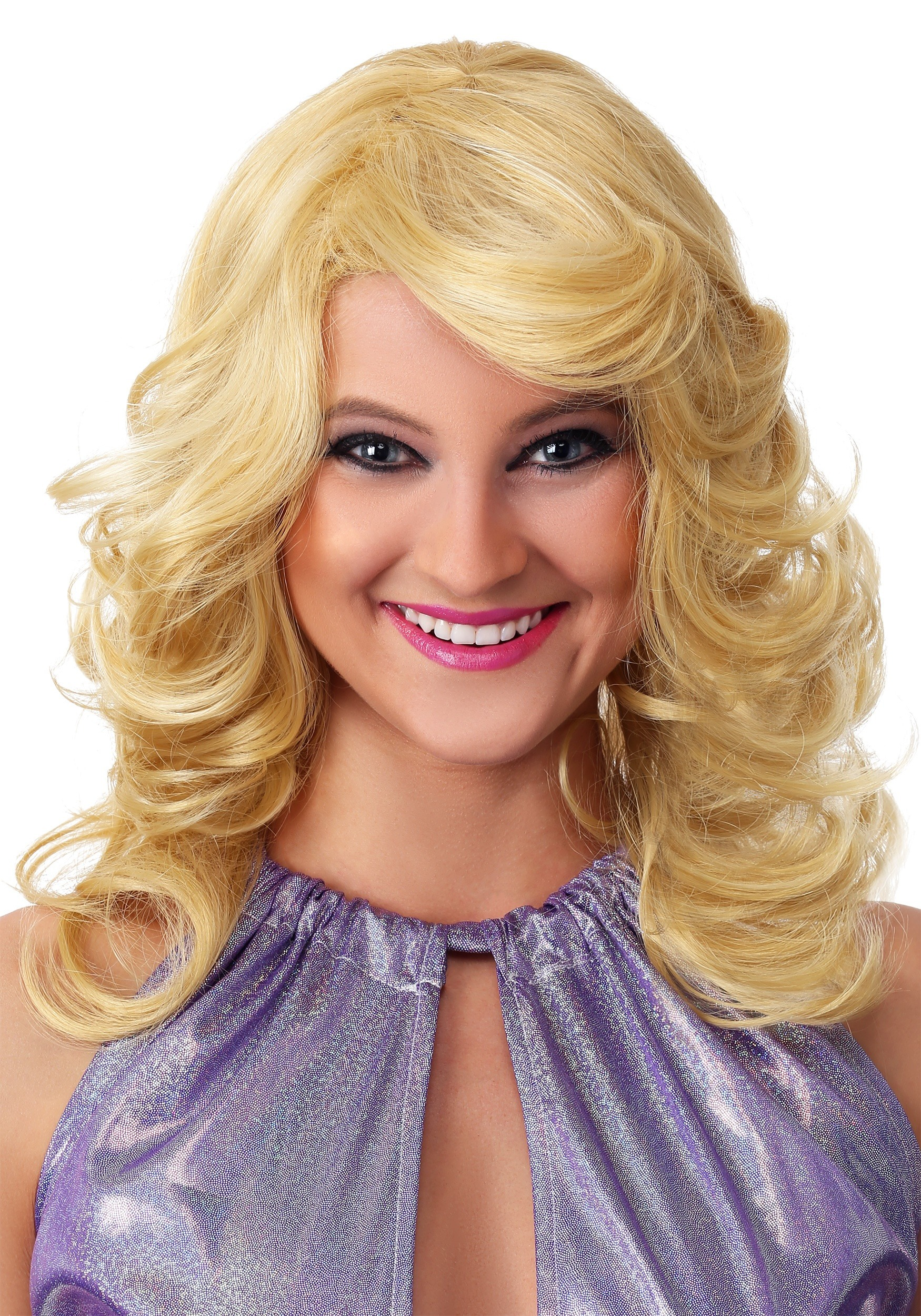 Blonde Women S 1970s Feathered Wig