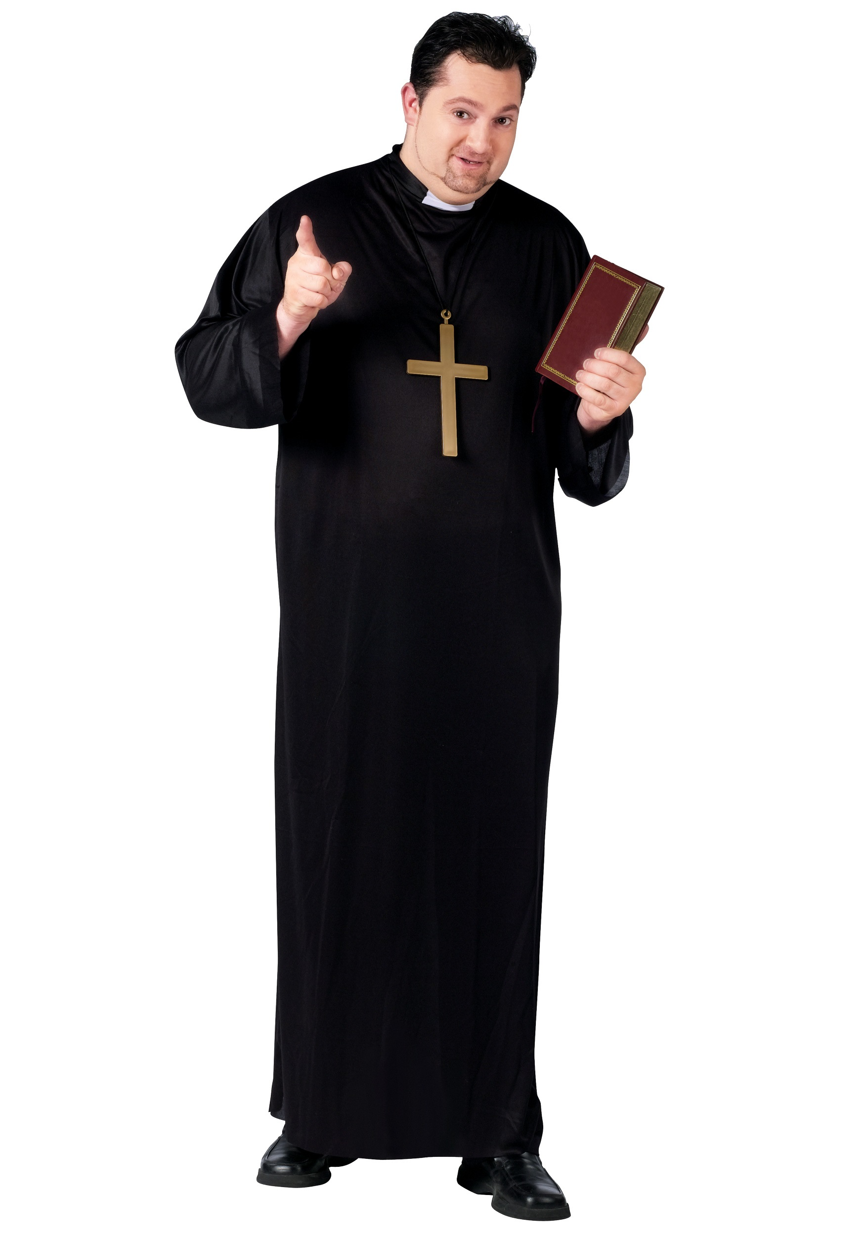 Plus Size Priest Costume