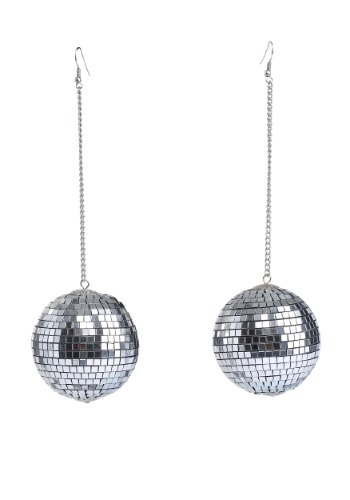 Click Here to buy 1960s Mod Disco Ball Earrings from HalloweenCostumes, CDN Funds