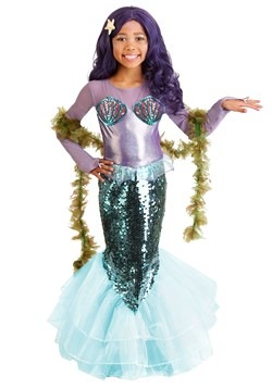 Pretty Purple Mermaid Child's Costume 1