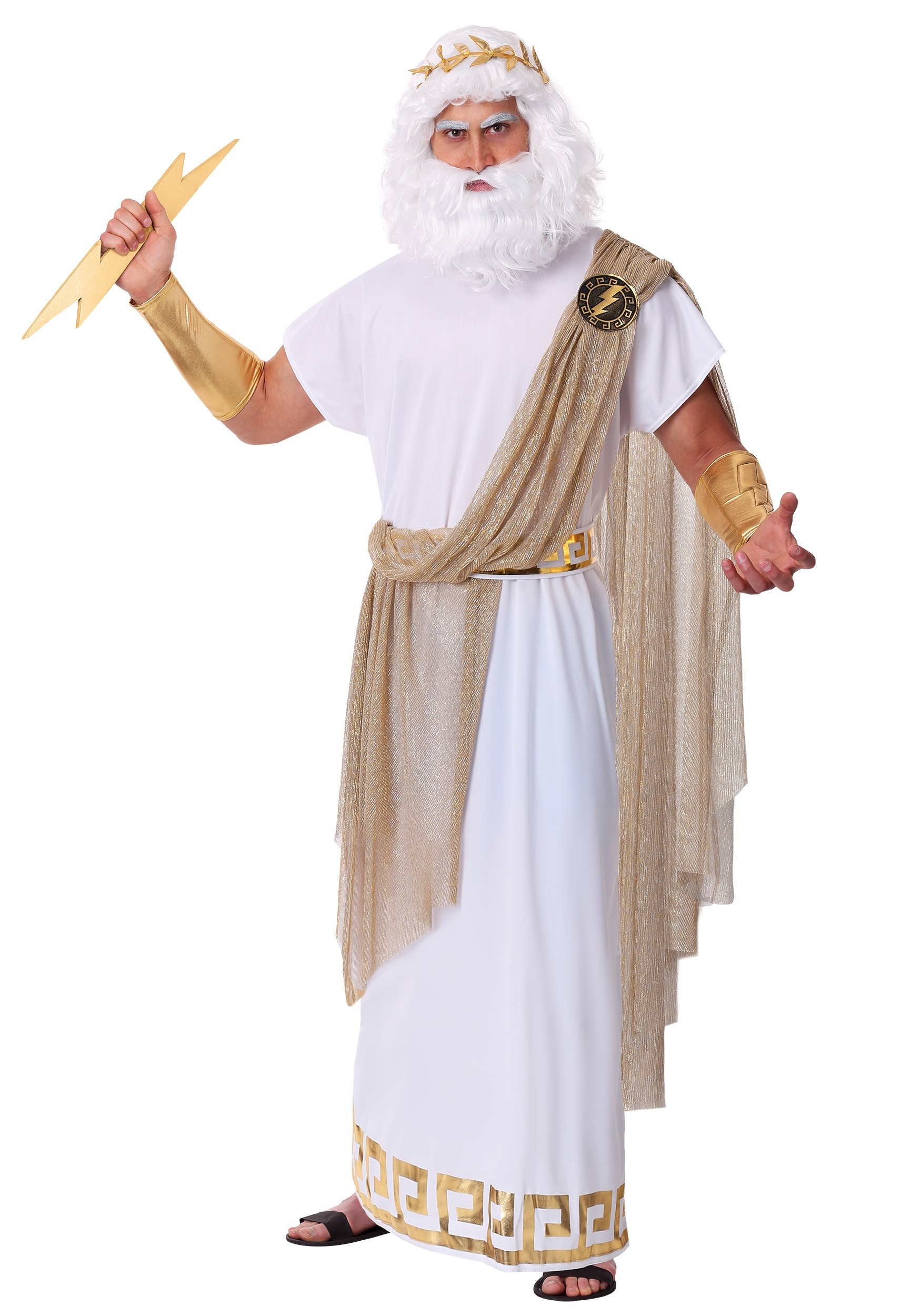 Plus Size Zeus Men's Costume