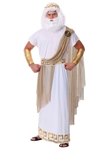 Plus Size Zeus Costume For Men