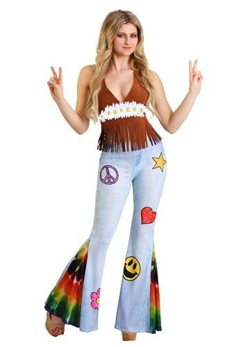 Patchwork Hippie Costume Womens