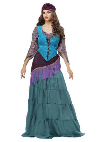 Click Here to buy Fabulous Fortune Teller Gypsy Plus Size Womens Costume from HalloweenCostumes, CDN Funds