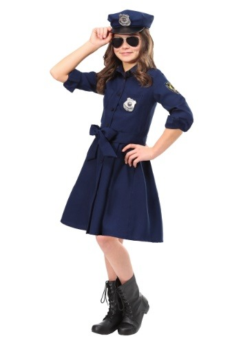 Girl's Helpful Police Officer Costume Update Main