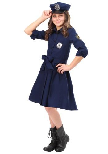 Girls Helpful Police Officer Costume