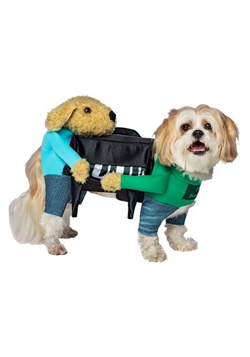 dogs carrying piano costume for pets. Black Bedroom Furniture Sets. Home Design Ideas