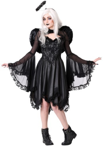 Plus Size Womens Classic Dark Angel Costume