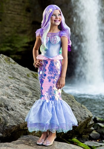 Girls Sparkling Mermaid Costume Main