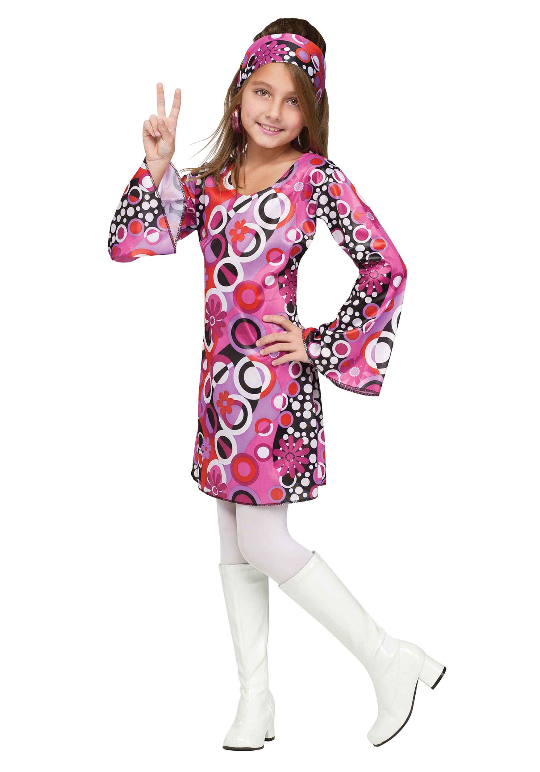 60's and 70's Costumes for Girls and Boys Go-go to the party in style with one of our groovy '60s and '70s costumes for kids and teens. Whether you favor the era of flower power or disco dancing, we have a costume to fit your youngster's needs.