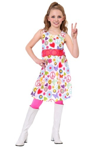 Click Here to buy Peace & Love Hippie Girls Costume from HalloweenCostumes, CDN Funds