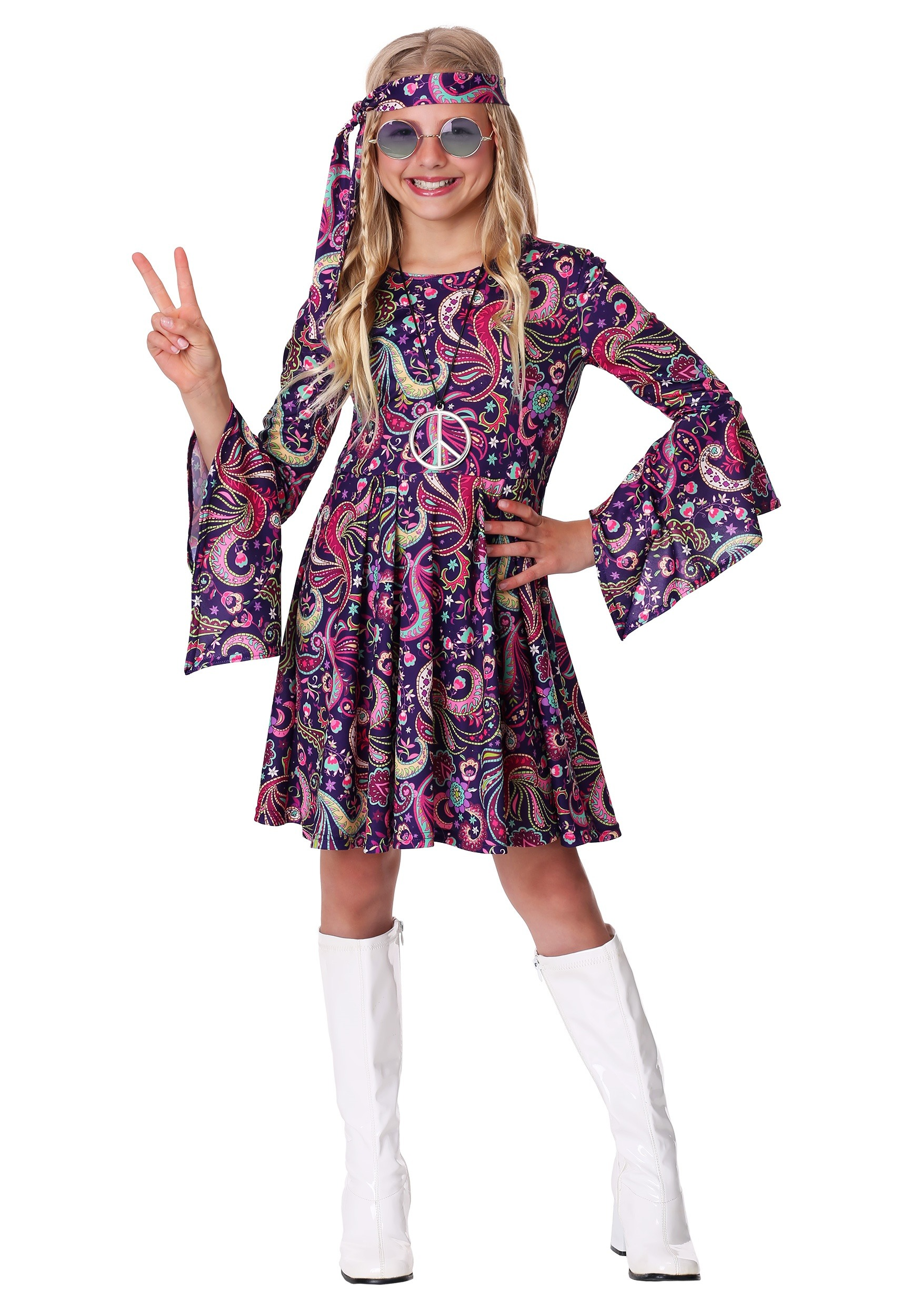 Girl S Woodstock Hippie Costume