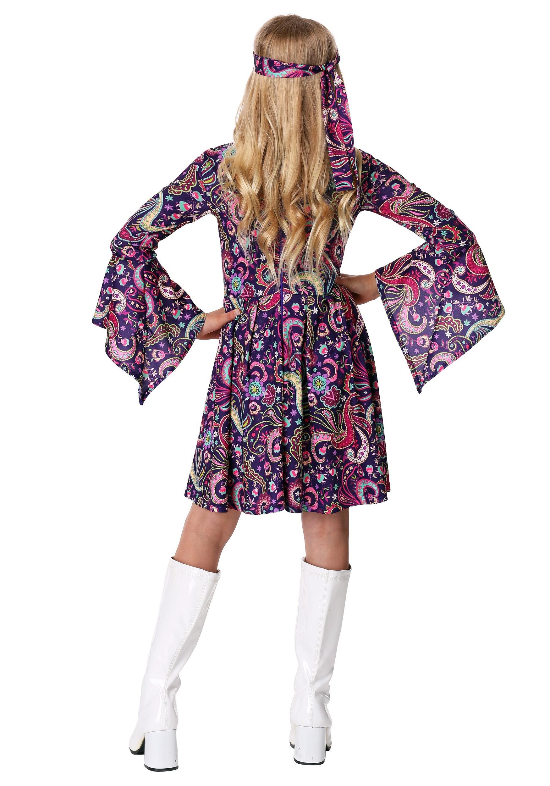 c174385bfa1f Girl's Woodstock Hippie Costume