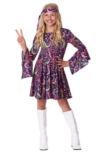Click Here to buy Girls Woodstock Hippie Costume from HalloweenCostumes, CDN Funds