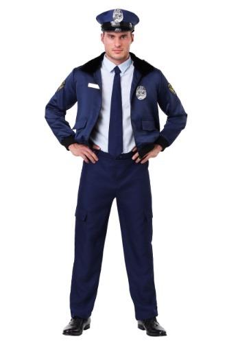 Mens Deluxe Blue Cop Costume