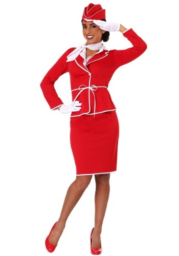 Women's First Class Flight Attendant Costume