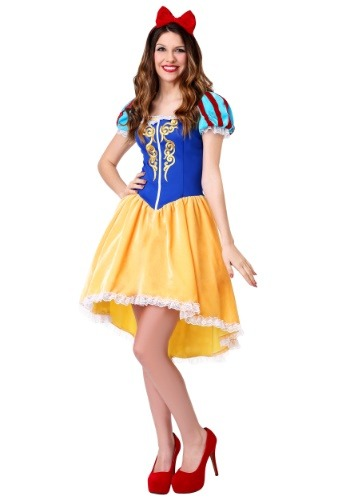 Click Here to buy Womens Plus Size Ravishing Snow White Costume 1X XL XXL 2X 3X from HalloweenCostumes, CDN Funds