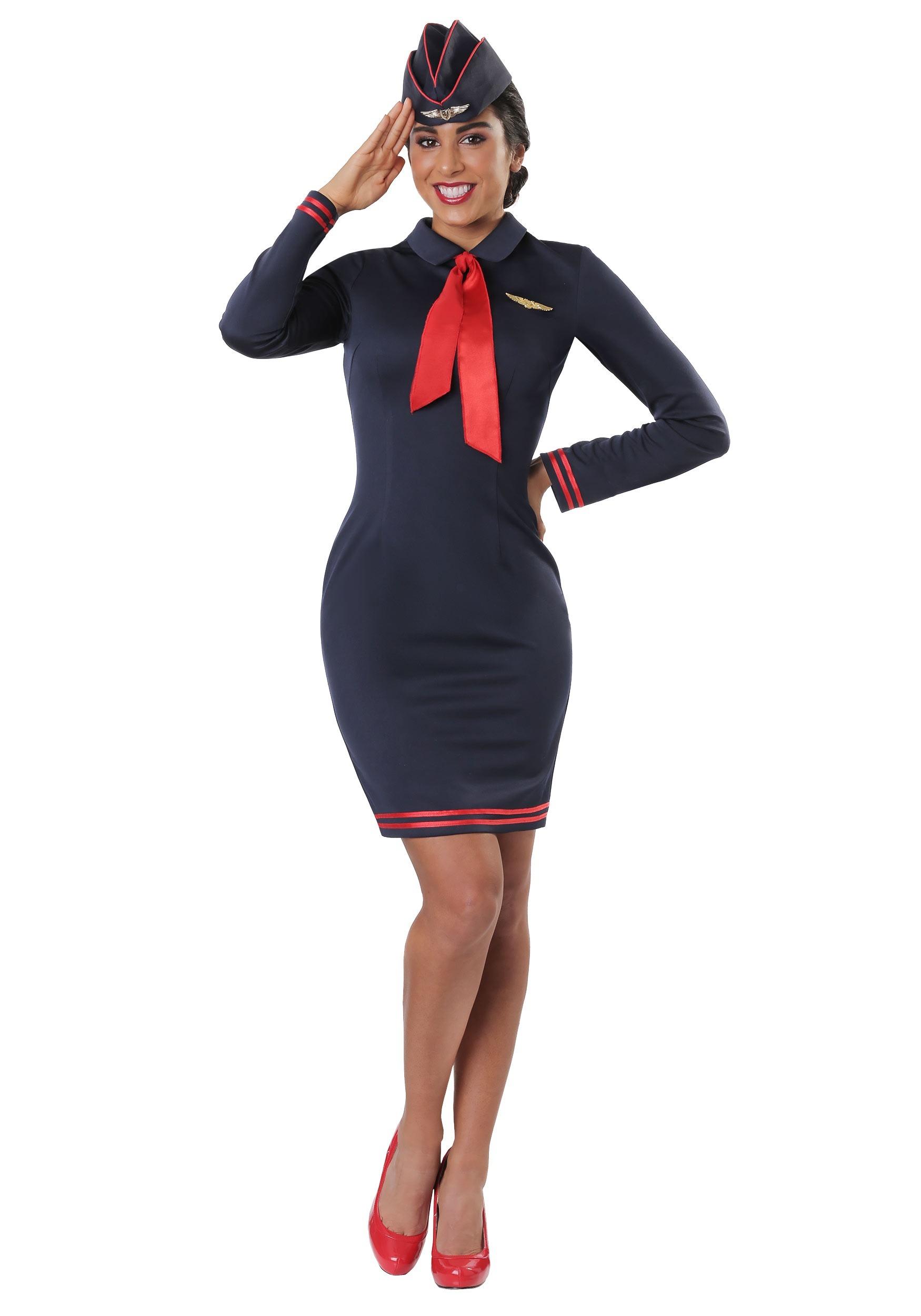 da08e0ef59f Plus Size Workin' The Skies Flight Attendant Costume