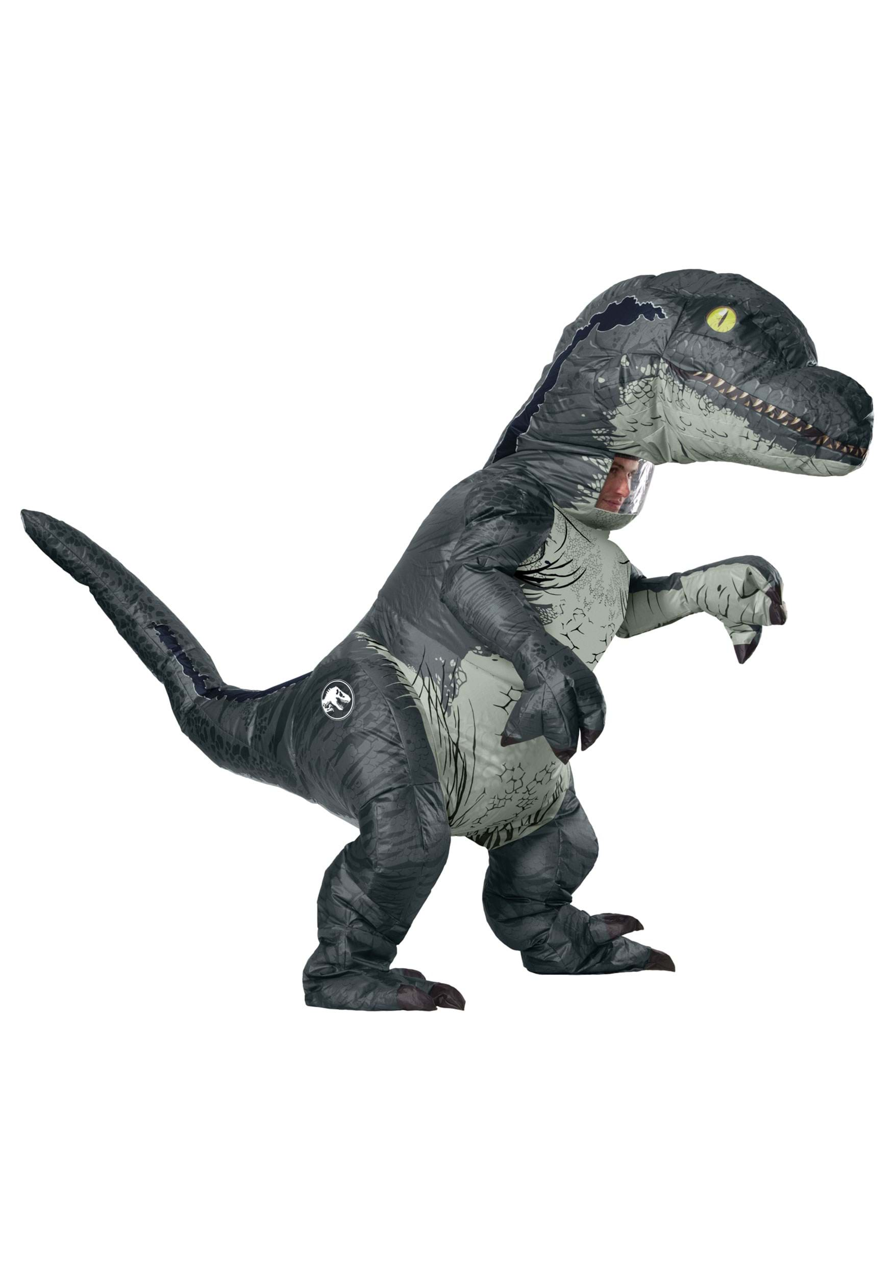 jurassic world inflatable velociraptor costume for adults