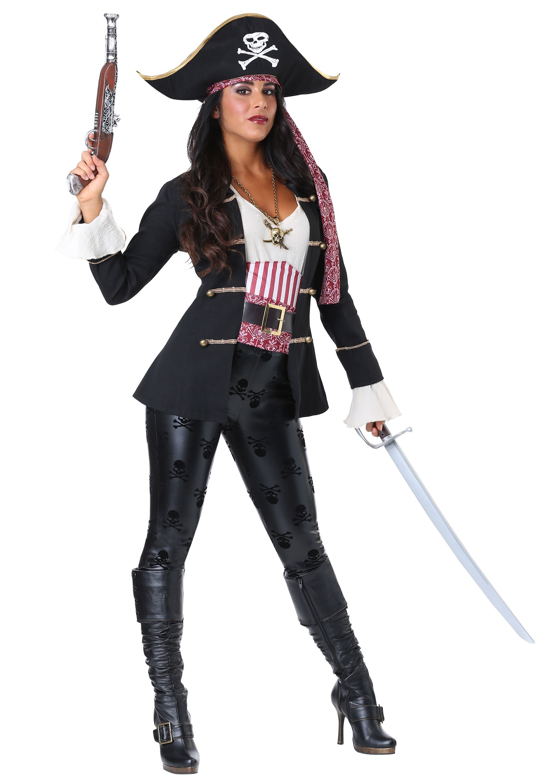 Captain Crossbones Pirate Costume For Women
