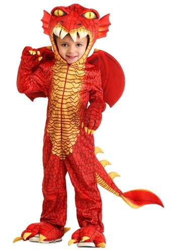 Toddler Deluxe Red Dragon Costume