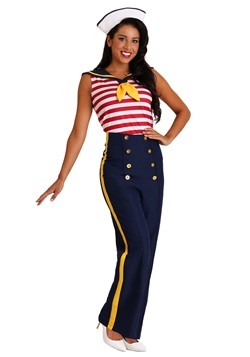 Women's Plus Size Perfect Pin Up Sailor Costume Update