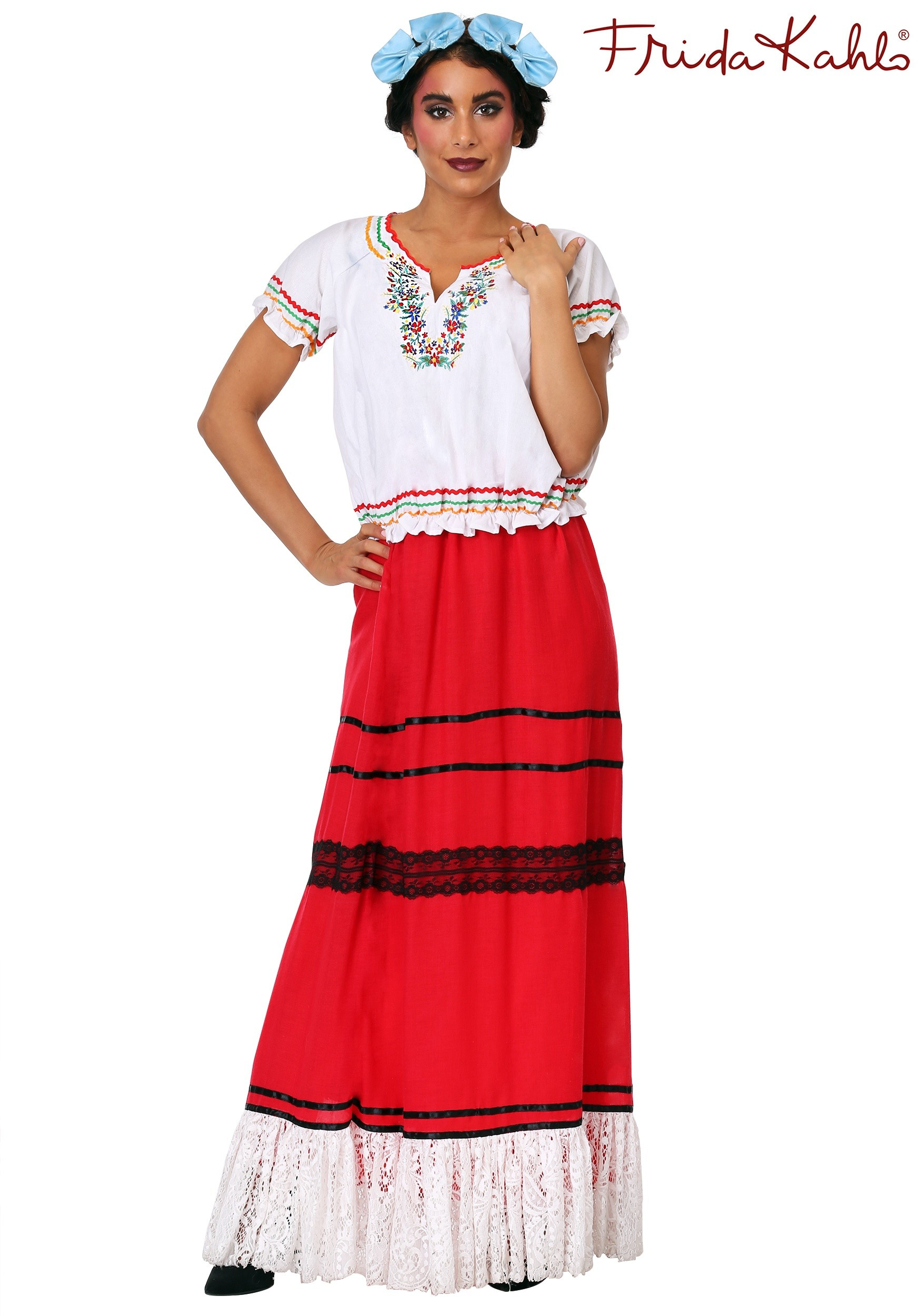 Red Frida Kahlo Women's Costume