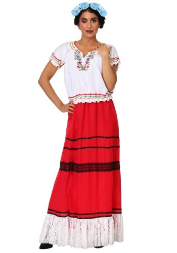 Click Here to buy Red Frida Kahlo Womens Plus Costume from HalloweenCostumes, CDN Funds