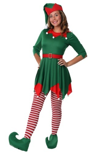 Click Here to buy Womens Plus Size Santas Helper Costume 1X 2X 3X from HalloweenCostumes, CDN Funds