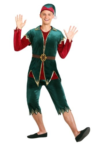 Click Here to buy Deluxe Mens Holiday Elf Costume from HalloweenCostumes, CDN Funds