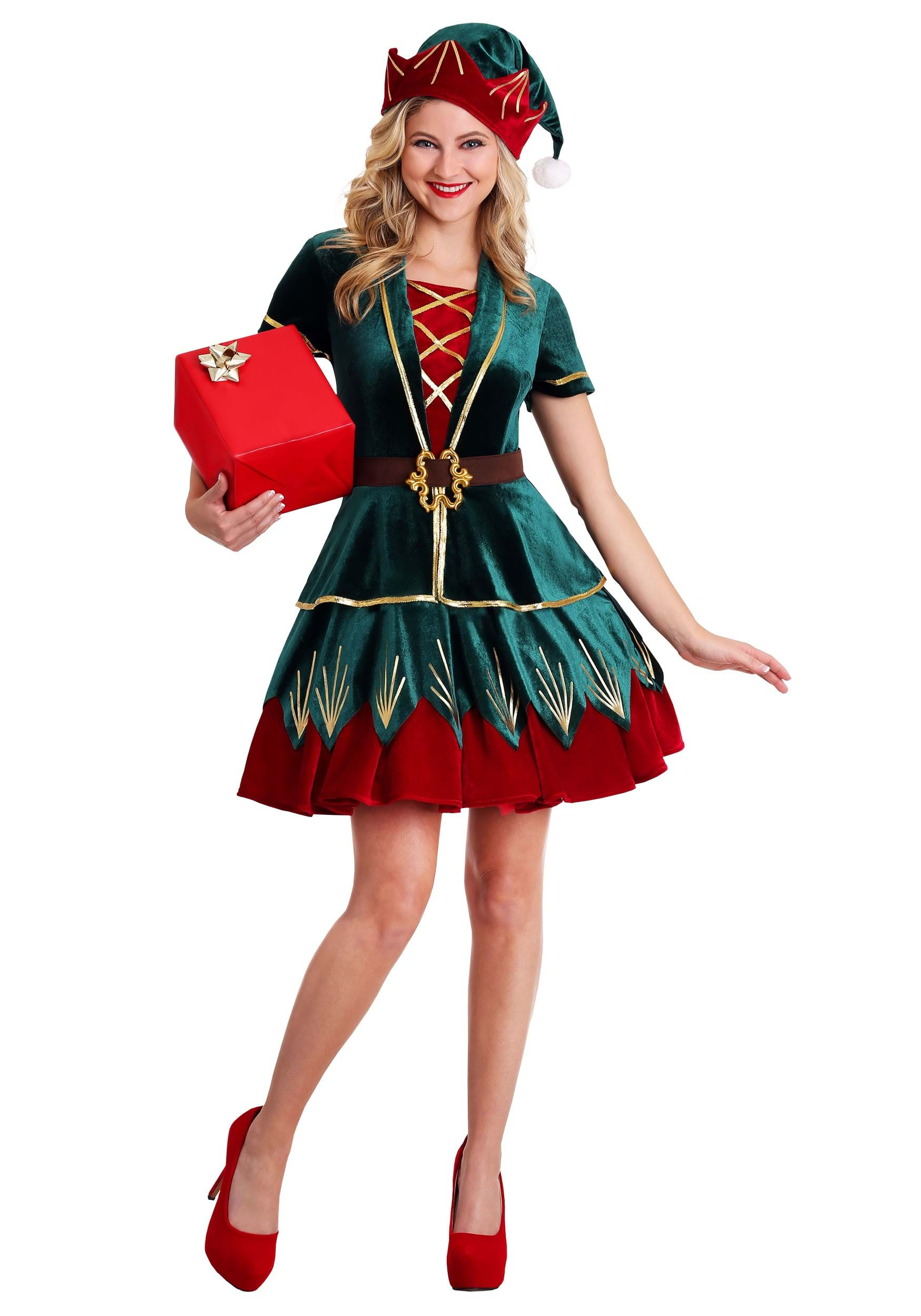 Women's Deluxe Elf Costume