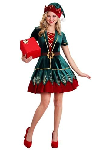 Click Here to buy Womens Deluxe Elf Costume from HalloweenCostumes, CDN Funds