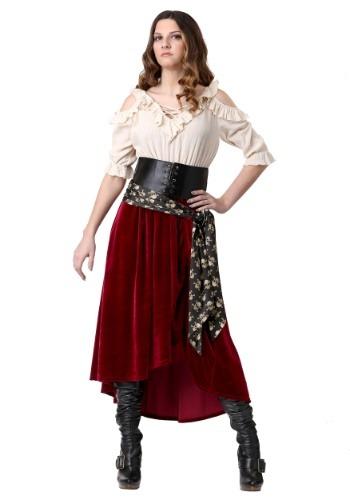 Womens Plus Size Roving Buccaneer Costume