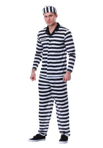 Mens Deluxe Button Down Jailbird Costume
