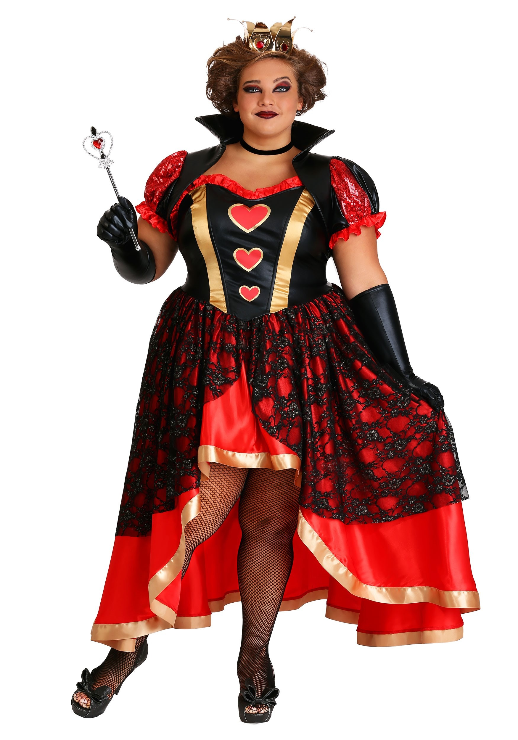 Off with their Heads Queen of Hearts Plus Size Adult Womens Costume NEW