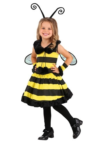 Toddler Girl's Deluxe Bumble Bee Costume update1