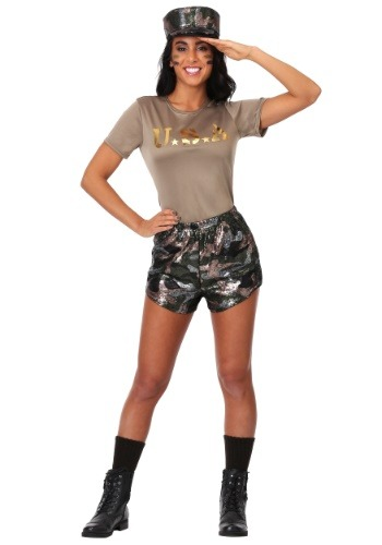 Womens Boot Camp Babe Costume
