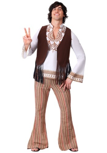 Click Here to buy Mens Woodstock Hippie Costume from HalloweenCostumes, CDN Funds
