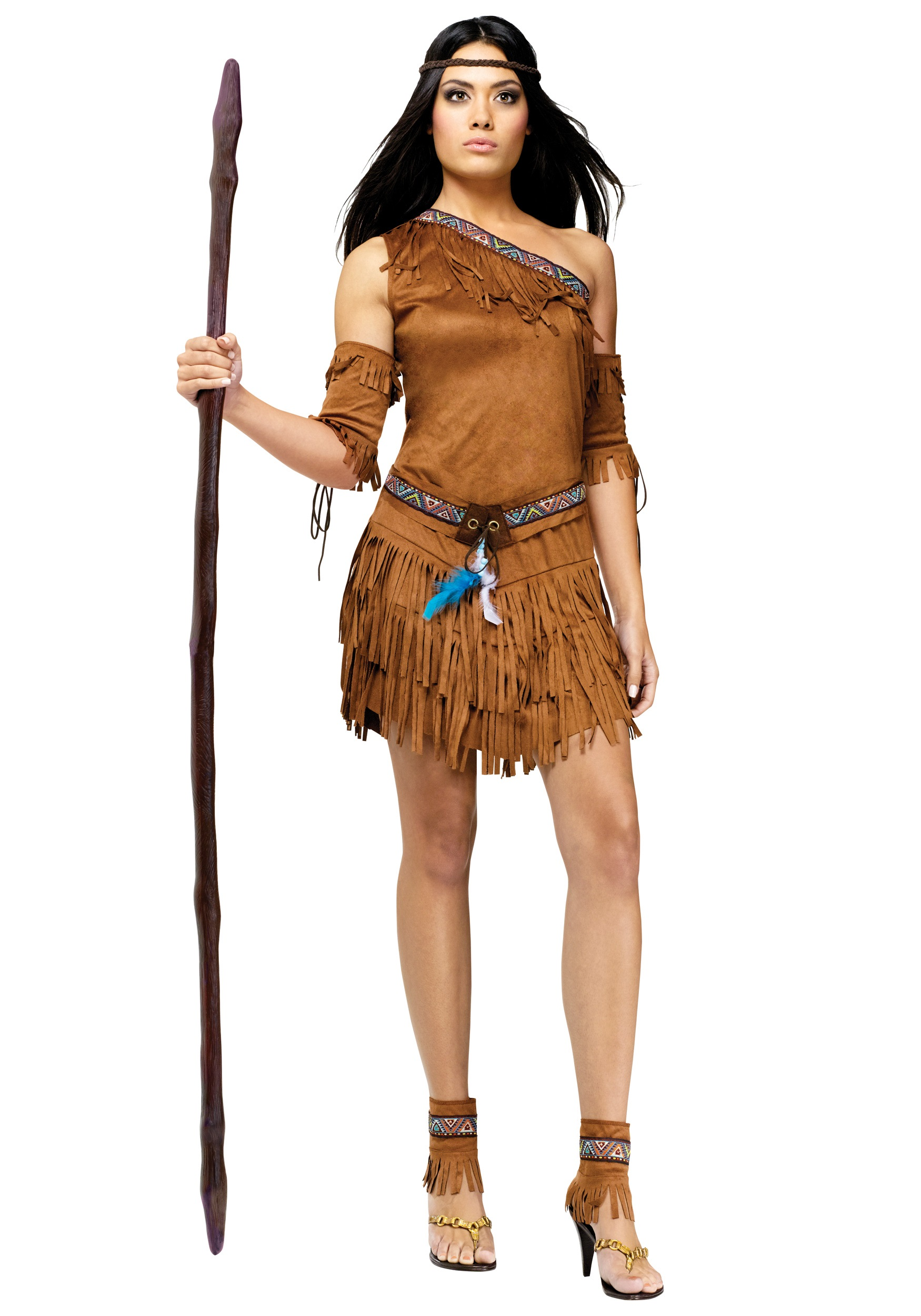 Sexy Native American One-Shoulder Costume